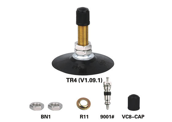 TR4 V1.09.1 Tube Valve Stem  Base , Motorcycle Tire Valve Environmental Protection